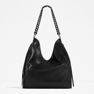 Zara Chain Detail Bucket Bag